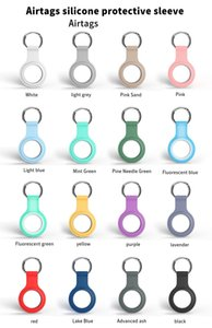 2021 Fashion Silicone Protective Case Keychain Cover For Airtags Tracker Airtag Air Tags Locator Anti-lost Device Protector Sleeve Anti Fall Scratch