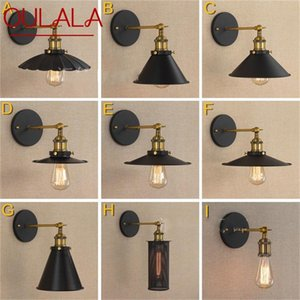 Wall Lamps OULALA Retro Light Sconces Classical Black Loft Fixtures Decorative For Home Living Room