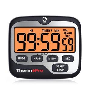 TM01 المطبخ الطبخ الموقت الطبخ مع عدل الإضاءة الخلفية الكبيرة العد التنازلي والعدلة الموقت 12 / 24h وضع الساعة