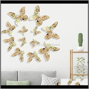 Décor Home & Gardencreative 3D Stickers Textured Hollow Living Room Bedroom Decoration Simulation Butterfly Beauty Wall Sticker 178 Drop Deli