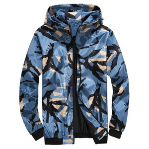 Mens Jacket Camouflage Designer Thin Hooded Long Sleeve Coats Casual Sunscreen Breathable Man Outerwear with Zipper Dropshipping