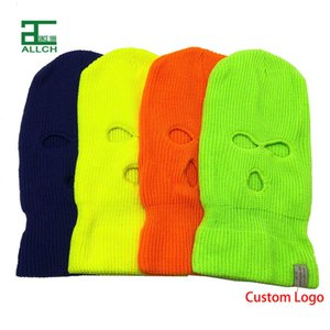 Masks Wholesale Ski 3 Hole Designer Beanies Warm Knit Balaclava Skull Winter Beanie Hats for Men Women Outdoor Sports 756N