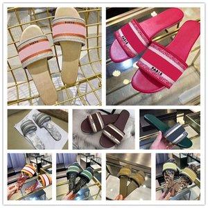 2021 дизайнерские моды тапочки джинсовые женские летние плоские туфли на улице пляж радуги сандалии 35-42