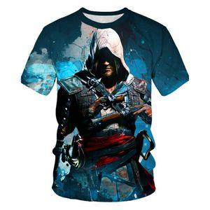 New Summer Kids T-shirt T-shirt Game Assassin Creed T Shirt Streetwear Tshirt Boys Girls Print Personality Tshirt Casual Top 4T-14TsOCer Jersey