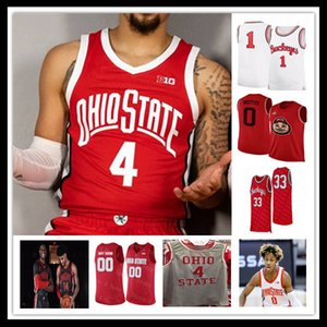 Neues College Ohio State Buckeyes Basketball Jersey E.j. Liddell Justin Ahrens Zed Key Seth Towns Musa Jolow Eugene Braun Harrison Hookfin