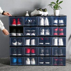1 stücke Hohe Qualität PP Schuhkasten Transparente Schubladenkoffer Kunststoff Boxen Stapelbare Lagerung Organizer Kleidung Kleiderschrank