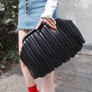 Women Shoulder Bag Dumpling Clip Purse Pleated Cloud Underarm Clutch Ruched Pouch Tote Handbag