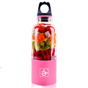 500ml Portable Blender Juicer Cup Mini USB Rechargeable Juicer Blender Maker Shaker Squeezers Fruit Orange Juice Extractor DWE9781