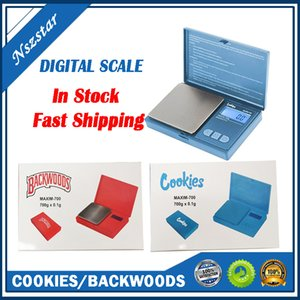 Kekse Backwoods digitale Skala Rot Blau 700g 0.1g Schmuck Gold Trockenkraut Tabakabsturz Gewicht Vape Messgerät Flip Stil Kit