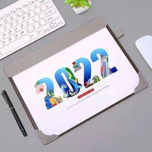 Sharkbang 2021.7-2022.12 Creative PU Multi-fonctionnel 365 jours de bureau Calendrier Agenda Agenda File Dossier Papeterie de souris Papeterie