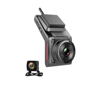 Inç Taşınabilir Araba DVR Dash Kamera Çift Lens Sürüş Kaydedici Wifi GPS İzleyici DVRS