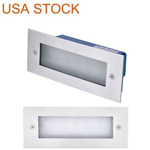 Street Lights LED Indoor Outdoor Step Lighting Stair Light 7 Watt Warm White 3000K (White Finish Vertical) suitable for courtyard flower bed corners Swimming pools