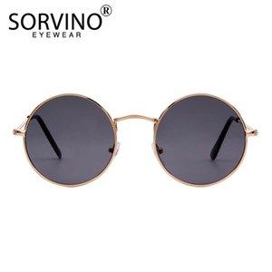 Сорвино ретро тонкий красный круглые солнцезащитные очки женщины мужские дизайнер 90-х годов леди тощий стимпанк металлический круг солнцезащитные очки оттенки SP141