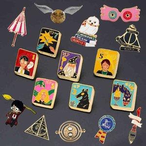 Qui Movie School Pins Badge Camicia All Backpack Zaino Accessorio Accessorio Grande regalo di gioielli per smalto creativo