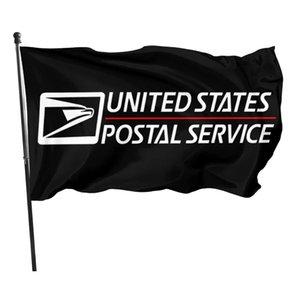 Stati Uniti Servizi postali 3x5ft Flags Bandiere 100D Poliestere Banner da esterno Colore vivido esterno Alta qualità con due grassini in ottone
