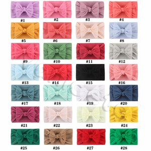 Nylon bow child Hair Accessories, Darling soft kids Headbands 28 color Baby hair bands 9185