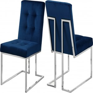 Noble Simple Big Backrest Living Room Furniture Metal Lint Blue Gary Black Durable Dining Chair for Home or Hotel restaurant