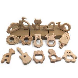 Wooden Teether Baby Kids Handmade Teethe Beech Teething Animal Grind Holder Nursing Toy Infant Safe DIY Wood Over 100 Styles