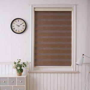 Blinds Shell Valance System Transparent Zebra Double Layer Light Shading Window Roller For Living Room Bedroom Study