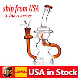 10.5 Wspólne Recycler Dab Rig HOISHAH VORTEX 14mm zlewki wody Bong Bulbbler Cyclone Dymienie Wody Durię z tytoń Suche Herb Bowl In Stock USA
