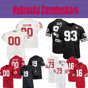 Personalizzato Nebraska CornHuskers College Football 27 Irving Fryar 21 Roger Craig 10 JD Spielman 20 Johnny Rodgers Jersey