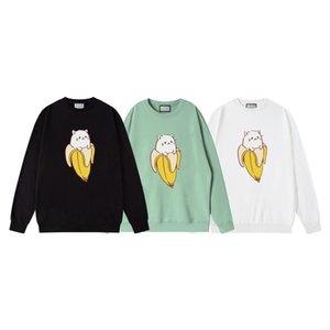 2021 ГУ Новые горячие женские дизайнерские толстовки мода ягненка животное осень зима мужская с длинным рукавом толстовая пуловер одежды кошачий толстовки азиатский размер