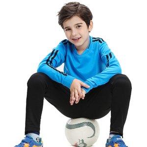 Kids Tracksuit Jerseys de futebol conjunto de inverno Treinamento grosso ternos homens manga longa esportes executando uniformes de futebol kit sportswear