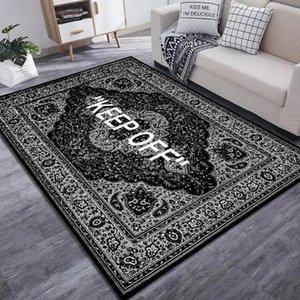 Carpets 2021 KEEP OFF Area Rugs Floor Mat Black And White Carpet Living Room Bedroom Bedside Bay Window Sofa Decor