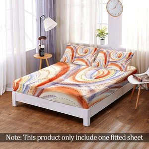 Sheets & Sets European Abstract Art Cloth Fitted Sheet Printing Bedding Elastic Band A Variety Of Specifications Home Decor
