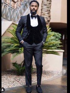 Customize One Button Handsome Shawl Lapel Groom Tuxedos Men Suits Wedding Prom Dinner Man Blazer(Jacket+Pants+Tie+Vest) W909