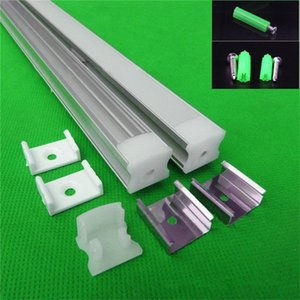 10x1m Aluminum Profile For Led Strip,milky transparent Cover 12mm 8520 Pcb With Fittings ,W17.5*H12.5mm Tape Channel Bar Lights