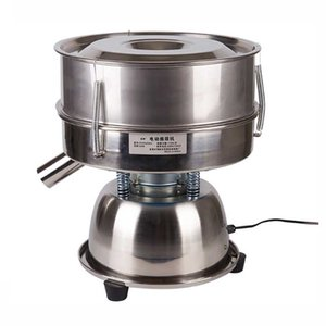 Cuisine Petite Cuisine Écran Vibrant Écran Vibrant Poudre Criblage Machine à gloussement en acier inoxydable Tamis de maille Sifters 220V 110V Pain
