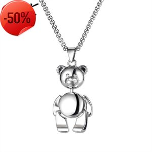 Simple and versatile OPK jewelry alloy couple necklace fashion personality Street hip hop teddy bear