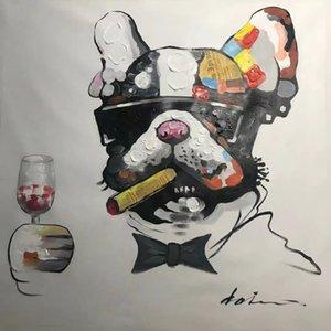 Оформленные абстрактные картины художественные краски на холсте ручной роспись живопись животных картина для декора для дивана стены без рамки