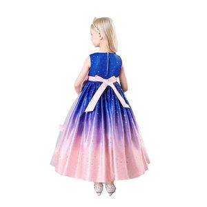 Girls Dresses Kids Clothes Children Clothing Princess Flower Child Wedding Party Poncho Halloween Costume Long Dress B8245