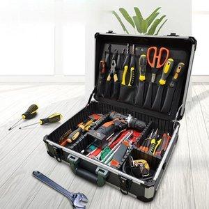 Multifunction Aluminium Tool Case Hardware Accessories Portable Waterproof Caja Herramientas Tools Packaging DF50GJX Organizers