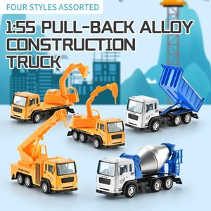 Mini Engineering Alloy Car 1:55 Pull Bakc Alloy Construction Truck Toy Model Vehicle for Boys Kids Birthday Gift 01