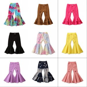 Kids Boot Pant Baby Girl Denim Flare 1-6Y Girls Autumn Ripped Jeans Fashion Girls Flare Pants children 2544 Y2