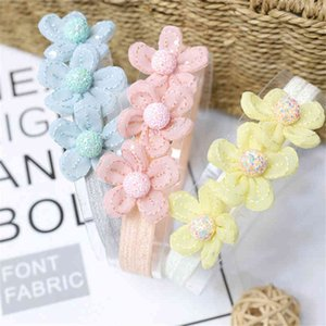 10pcs Lot Children Chiffon Girl Toddler Hair Band Headwear Accessories Lace Flower Headband Kids Po Props