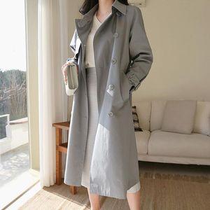 Women's Trench Coats Windbreaker Female Middle Long Coat G133