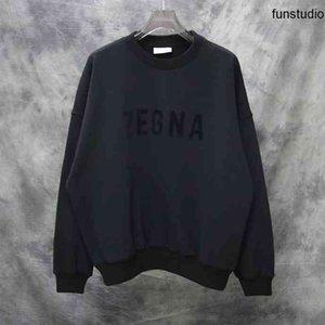 2021 Spring New Mode Menseurs Mens de Menseur Decoration Sweatshirts Sweatshirts Jumpers ~ Tops Mens US Taille Taille Cavaliers surdimensionnés