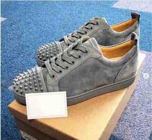 Top Quality Seavaste 2 Orlato Glitter Leather Junior Red Bottom Shoes Men's adn Women Sneakers Shoes Designer Studs Couple Leisure Streetwear Flat