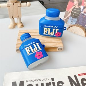 3D Cute FIJI Water Drink Cases For AirPods 3 Headphone Protection Cover Case Creative Silicone Earphone Novelty