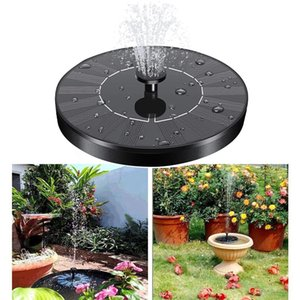 Mini Solar Water Pump Garden Decorations Power Panel Kit Fountain Pool Pond Waterfall 1.4W Outdoor Floating Home Decor