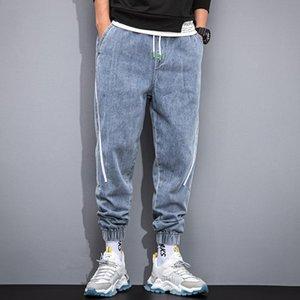 Jeans lunghi per uomo Pantaloni da uomo Cargo Denim Tuta Pantaloni da uomo larga larga larga BAGGY Pantaloni da uomo