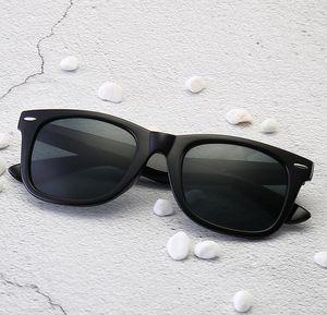 2140 klassische retro stabile qualität männer frauen sonnenbrille echte glaslinsen sonnenbrille ledertasche box