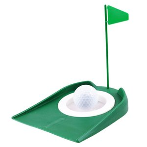 Golf Exercise Plate Green Tool Collapsible Push Rod Home Toy Sports Accessories Plastic Putter Children's Toys Training Aids
