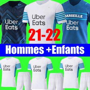 21 22 Maillot de foot Olympique De Marseille 2021 2022 marseille soccer jersey OM MILIK CUISANCE BENEDETTO KAMARA THAUVIN PAYET ALVARO football shirt