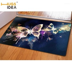 3D Beauty Butterfly Pattern Carpet Area Rug For Home Living Room Bedroom Kitchen Soft Carpets & Rugs Alfombras De Salon11