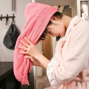 Towel Microfiber Quick-drying Hair Soft Skin-friendly Bath Hat Super Absorbent Bathroom Accessories